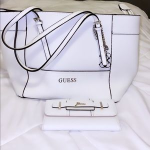 Brand new white Guess tote.